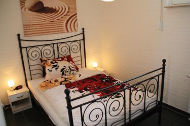 Schlafzimmer im Tossens Ferienhaus